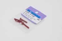 Square Aluscrew Red Countersunk-Head M3x18mm
