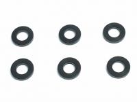 Square SGE-4610BK Aluspacer 3x5.8 x 1.0mm Schwarz (6 Stück)