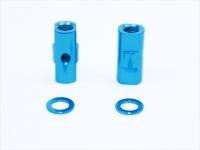 Square SGE-5010TB Alu Post Set M3x5.0 x 10.5mm Tamiya Blue