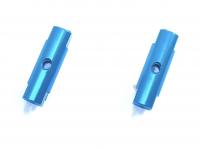 Square SGE-5016TB Alu Post Set M3x5.0 x 16mm Tamiya Blue