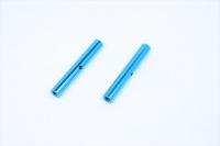 Square SGE-5035TB Alu Post Set M3x5.0 x 35mm Tamiya Blue