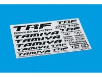 Tamiya 42246 TRF Aufkleberbogen Typ C (Schwarz / Chrom)