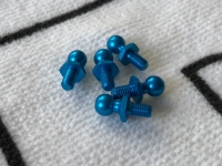 Tamiya 53642 TRF416 5mm Alu Ball Connectors Blue (5 pcs.)