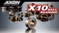 Axon BI-PG-005 X10 Kugellager Zöllig mit Flansch 3/8x1/4 (2 Stück)