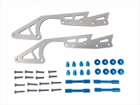Square SWR-11B WR-02 SSG Carbon Long Stretch Chassis Set (Tamiya Blue)