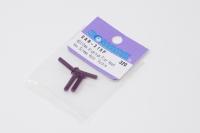 Square Aluscrew Purple Countersunk-Head M3x15mm