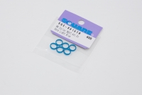 Square SGE-8615TB Aluspacer 6.0 x 7.4 x 1.5mm (6 pcs.) Tamiya Blue