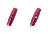 Square SGE-5016R Alu Post Set M3x5.0 x 16.0mm Red