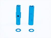 Square SGE-5019TB Alu Post Set M3x5.0 x 19.0mm Light Blue