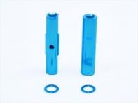 Square SGE-5021TB Alu Post Set M3x5.0 x 21.0mm Light Blue
