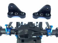 Square SCC-14BK Tamiya CC-02 Alu Housing Pivot AC/D Set Black