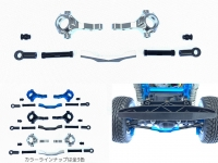 Square SCC-35SS Tamiya CC-02 Alu Front Knuckle Set Silver