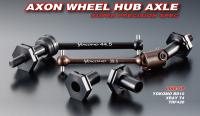 Axon WHEEL HUB AXLE for BD10 REAR/XRAY T4,TRF420 FRONT & REAR 4mm (1pic)