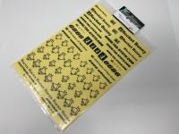 Addiction AD003-7 Rocket Bunny Sticker Set Black