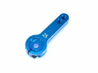 Square SGE-78TB Alu Servohorn Long 21/25mm Light Blue (Futaba = 25T)
