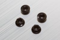 Square SGE-14SBK Serrated Alu Wheelnuts Black (Sawteeth)