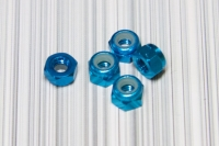 Square SGE-03TB Aluminum M3 Nuts Light Blue (5Pcs)
