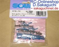 Square Tamiya TT-01 TT01 Titan/Aluschraubensatz