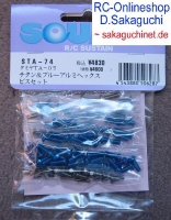 Square STA-74 Tamiya TA-05 Titanium/Aluminum Screw Set